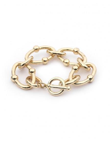 Gold Ring Toggle Bracelet