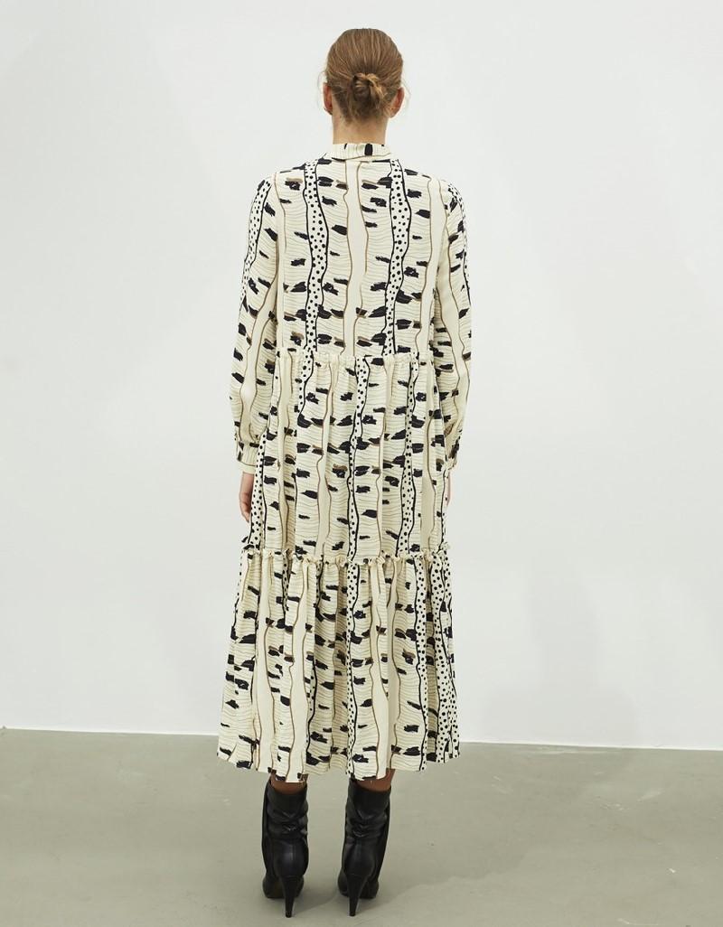 Beige Pattern Transition Dress