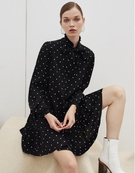 Black Polka Dot Pattern Dress