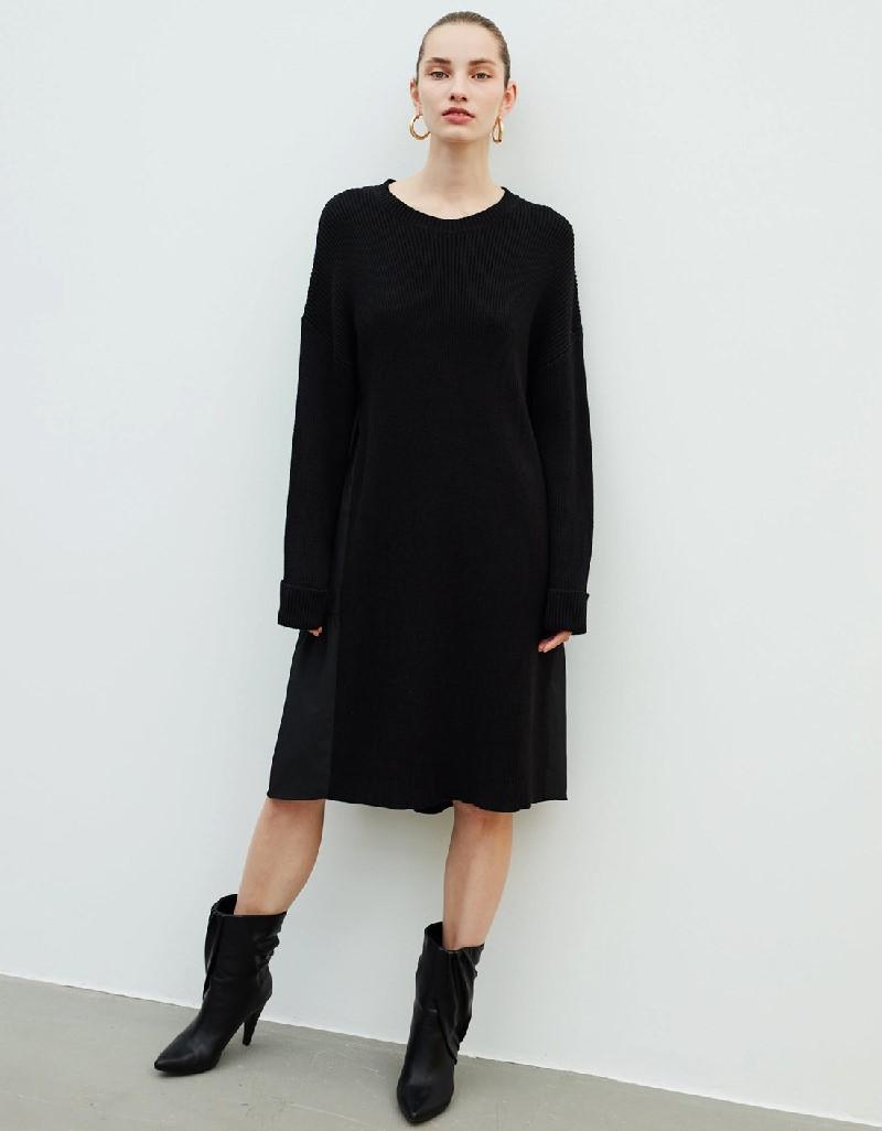 Black Pleated Dress