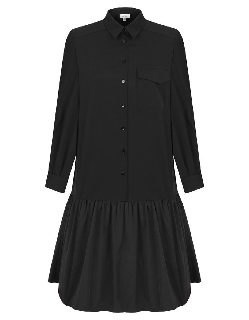 Black Ruffled Dress