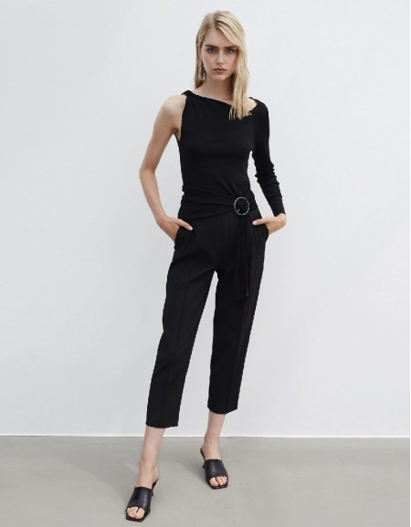 Black Classic Fit Trousers