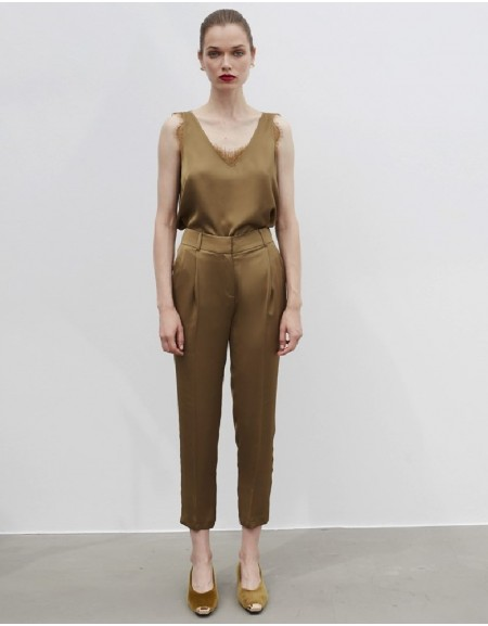 Brown Classic Fit Trousers