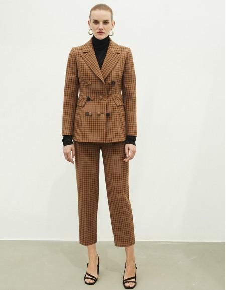 Terracotta Plaid trousers