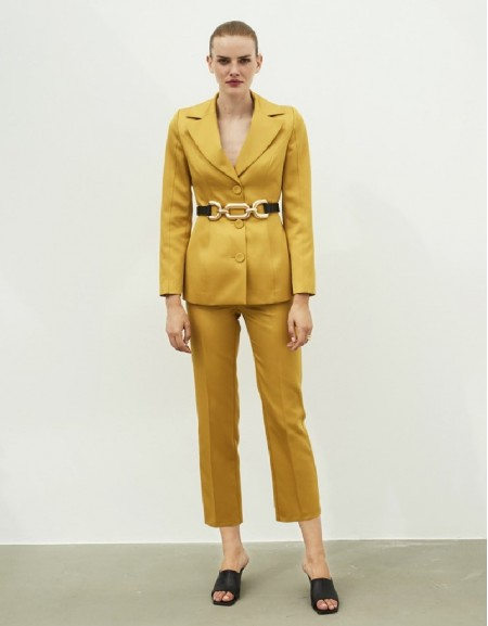 Yellow Satin Pants