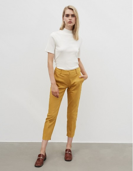 Yellow Classic Fit Trousers