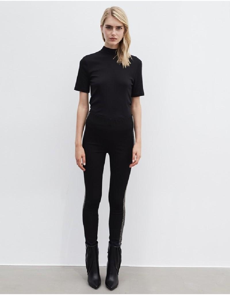 Black Side Stripe Trousers