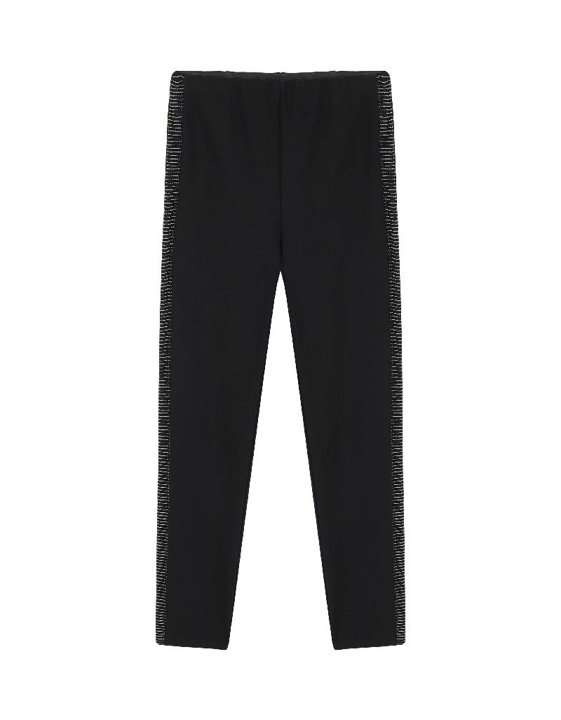 Black Stone Striped Trousers