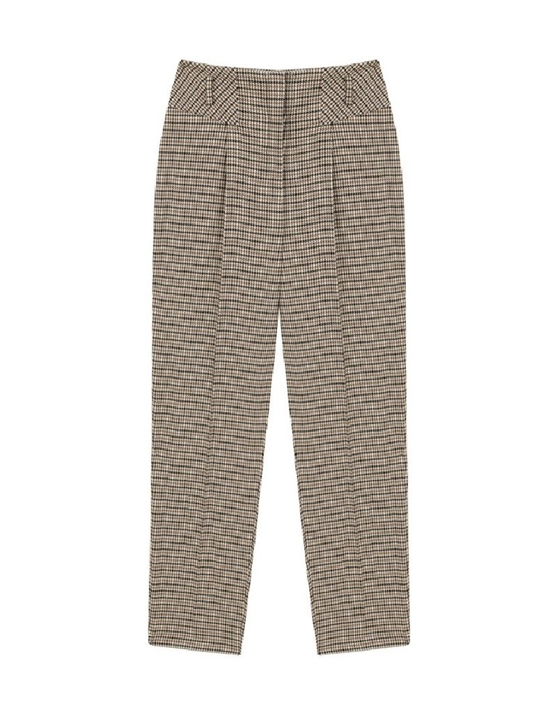 Brown Crowbar Pattern Trousers