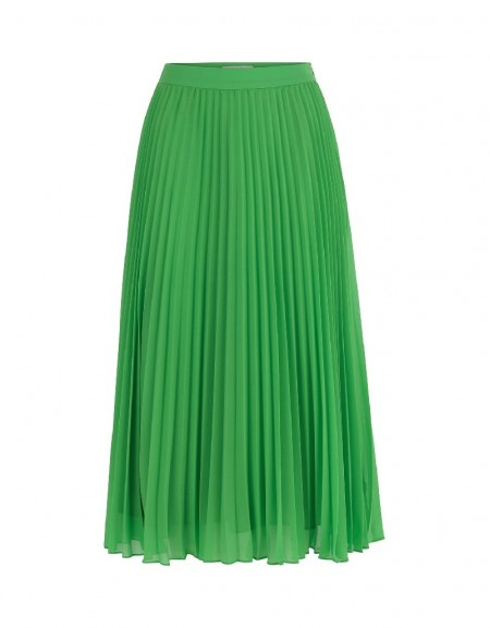 Green Pleated Green Skirt