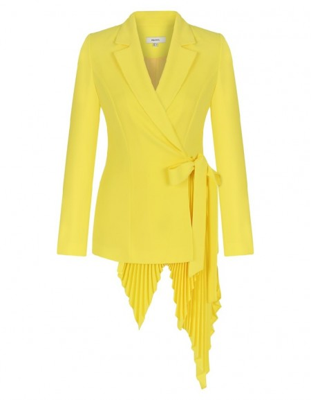 Yellow Belted Jacket