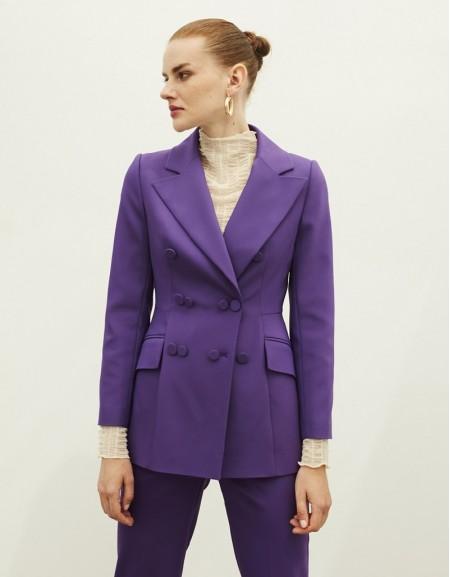 Purple Button Accessory Jacket