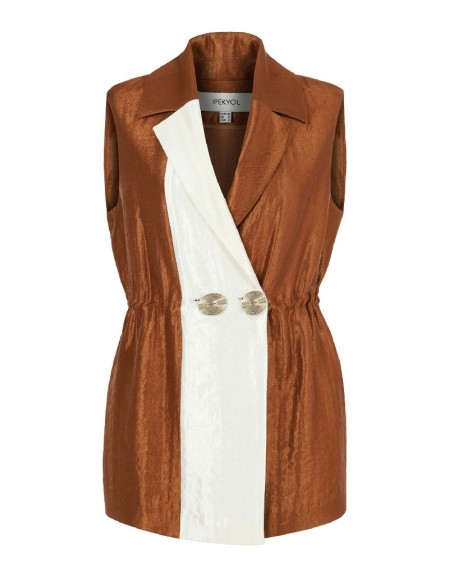 Brown Bronze Viscosed Vest