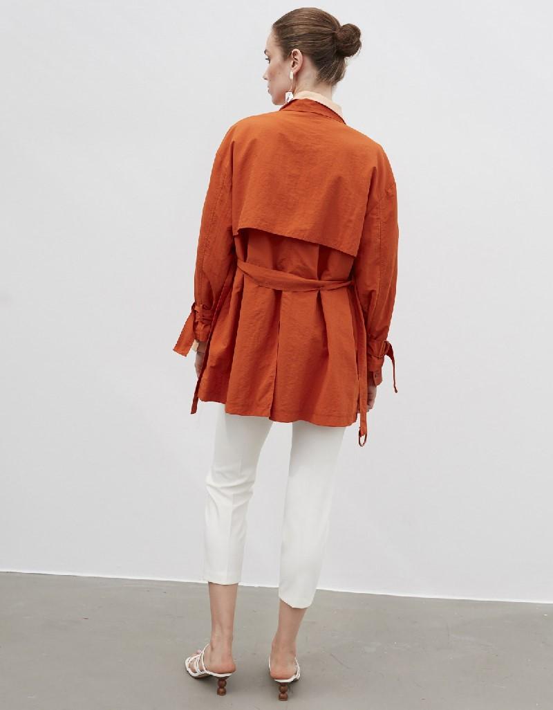 Red Jacket With Large Pocket Details