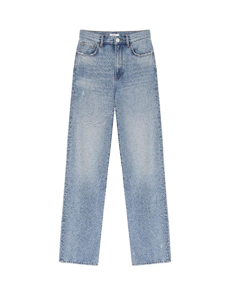 Blue Long High Waist Jeans