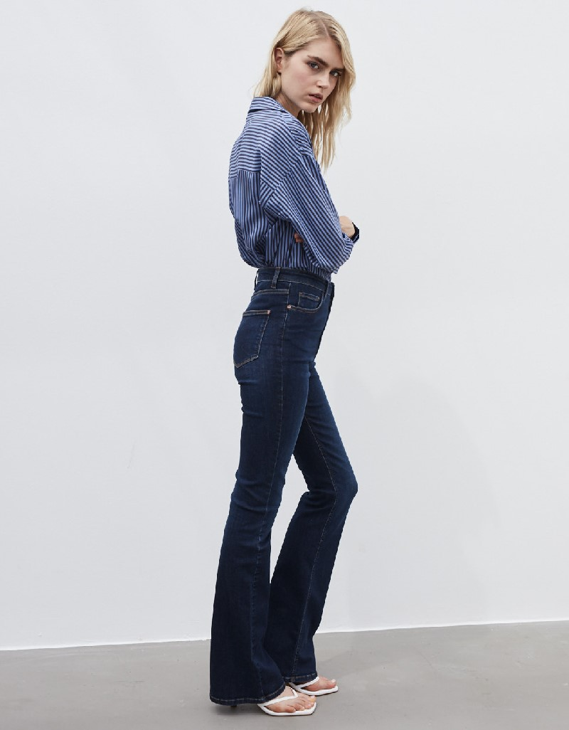 Blue Flare Fit Jean Trousers