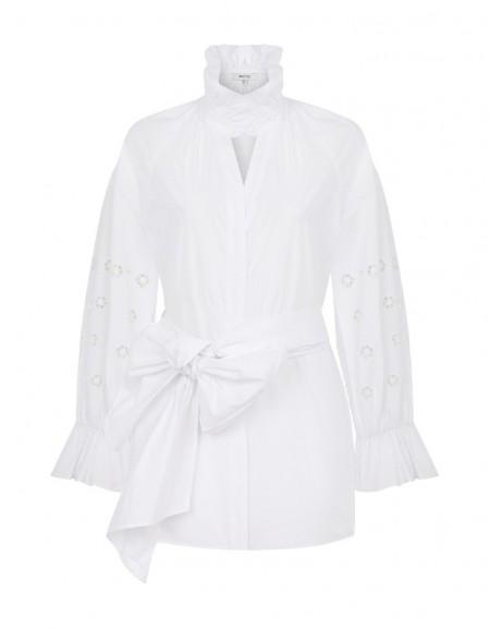 White Shirt With Belt