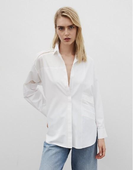 White Lace Mix Shirt