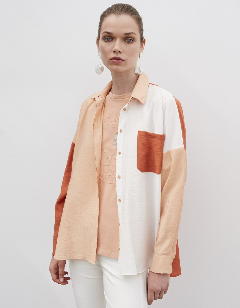 Beige Color Transition Shirt