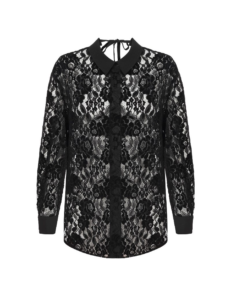 Black Lace Black Shirt