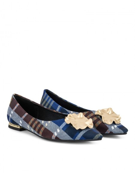 Blue Plaid Pattern Shoes