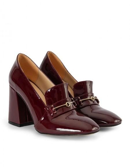 Purple Heel Detail Shoes