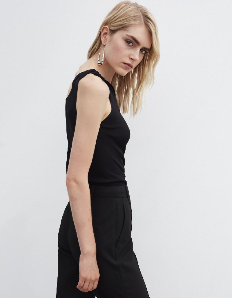 Black Collar Detailed Knitwear