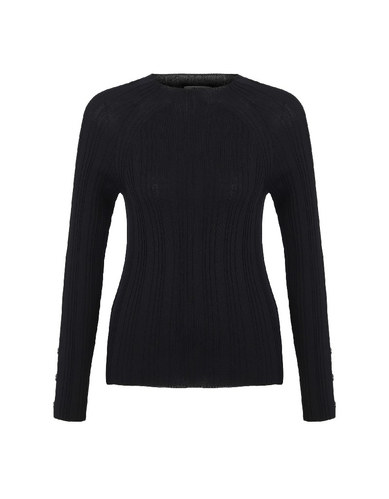 Black Button Accessories Knitwear