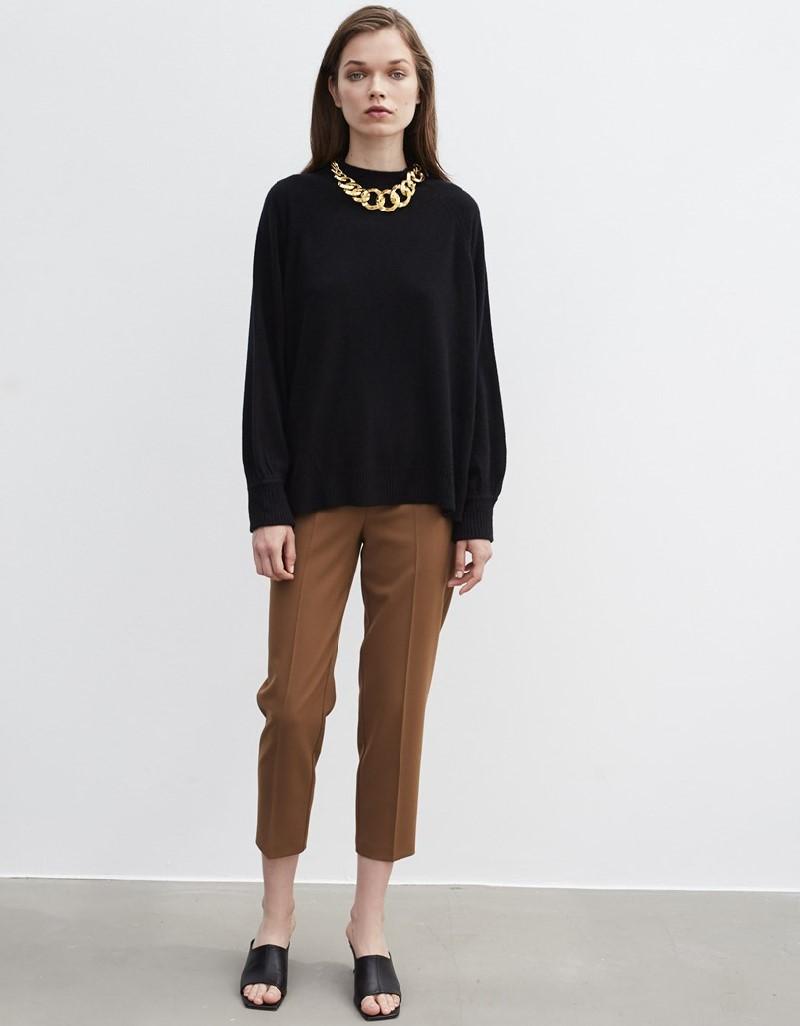 Black Half Fisherman Knitwear