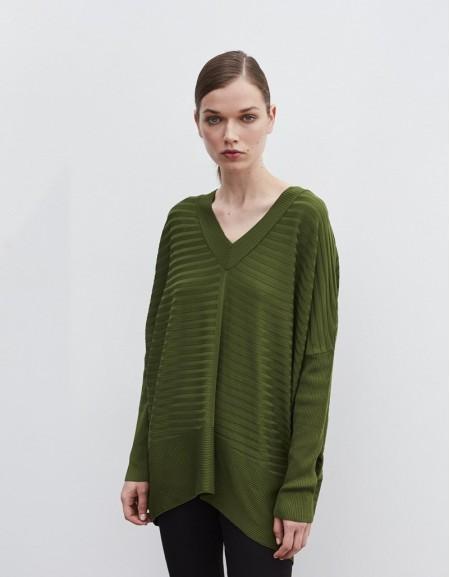 Green Oversized Knitwear