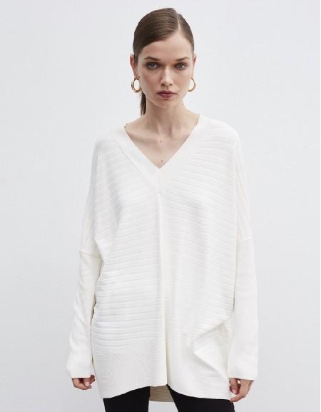 Beige Oversized Knitwear
