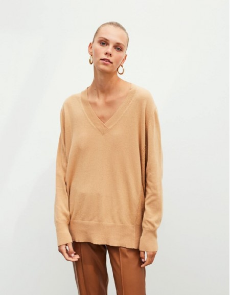 Camel Basic Knitwear
