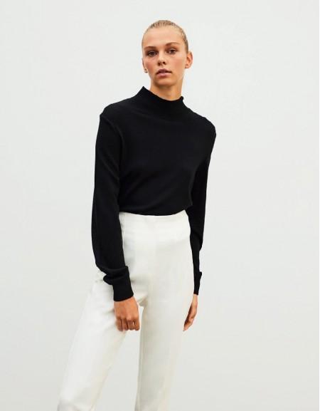 Black Basic Knitwear