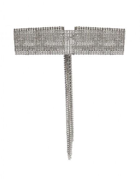 Silver Stone Tassel Necklace