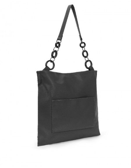 Black Chain Strap Sleeve Bag