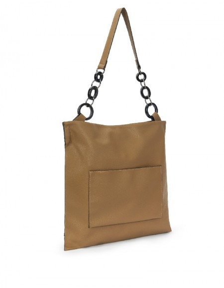 Brown Chain Strap Sleeve Bag