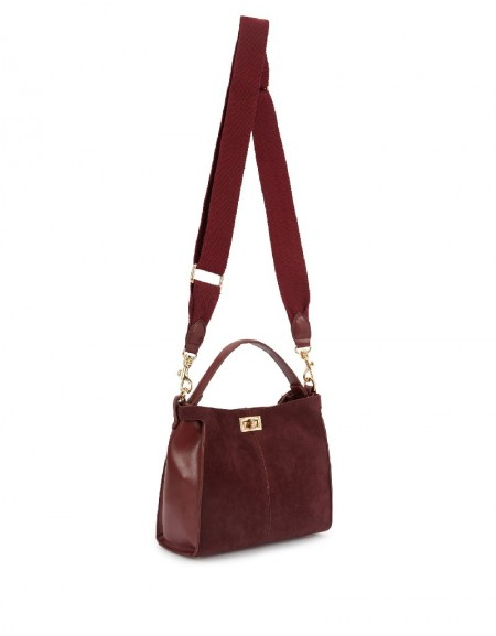 Red Suede Form Sleeve Bag