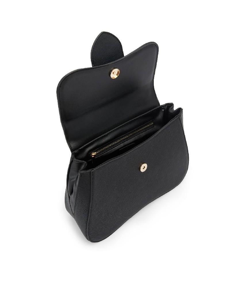 Black Sleeve Bag With Closure Detail