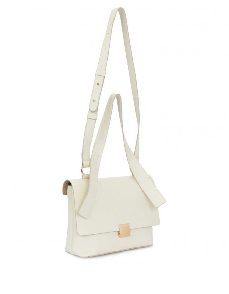 Beige Bag With Strap Detail