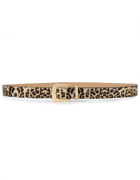 Yellow Leopard Pattern Belt