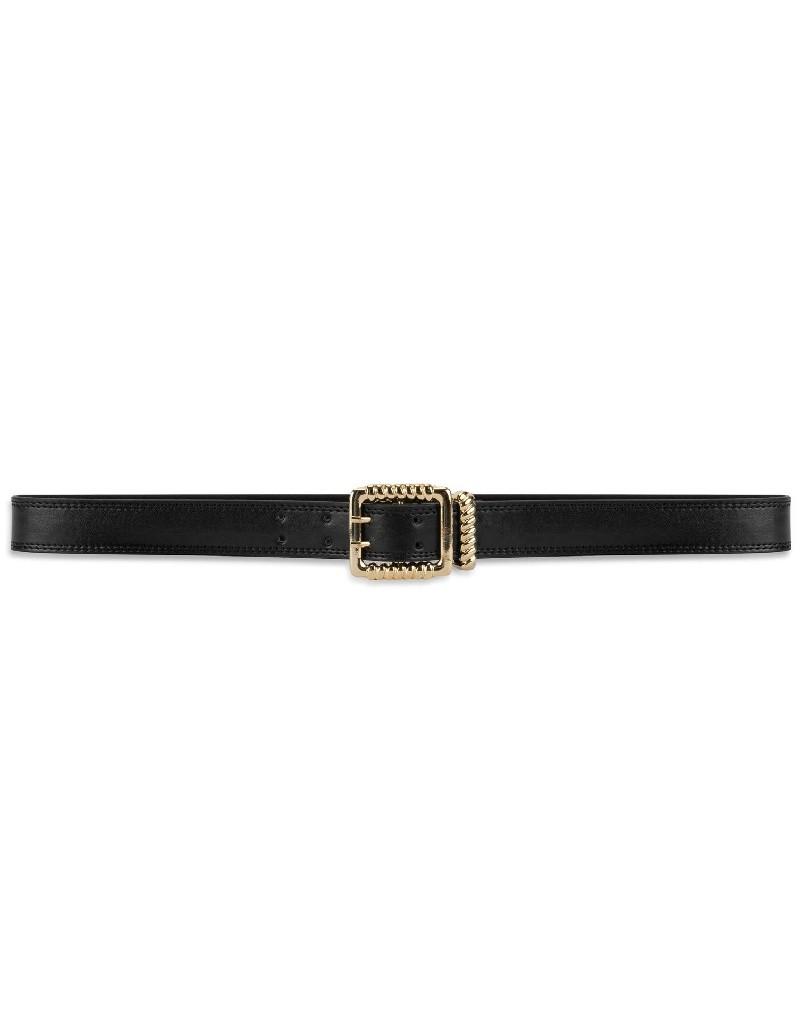 Black Metal Buckle Belt