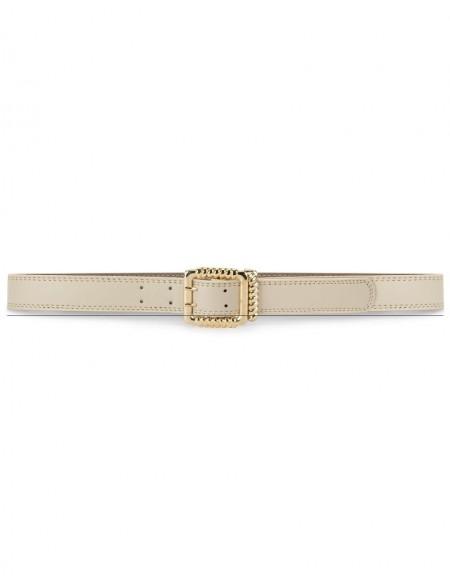 Brown Metal Buckle Belt