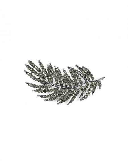 Silver Leaf Figure Brooch