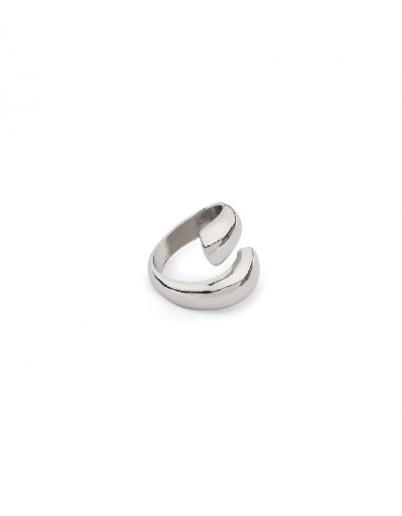 Silver Fluid Form Ring