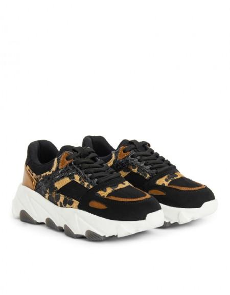 Yellow Leopard Pattern Sneaker