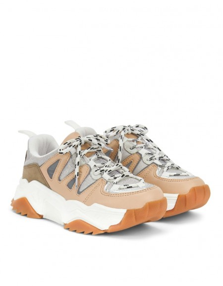 Brown Color Transition Sneaker