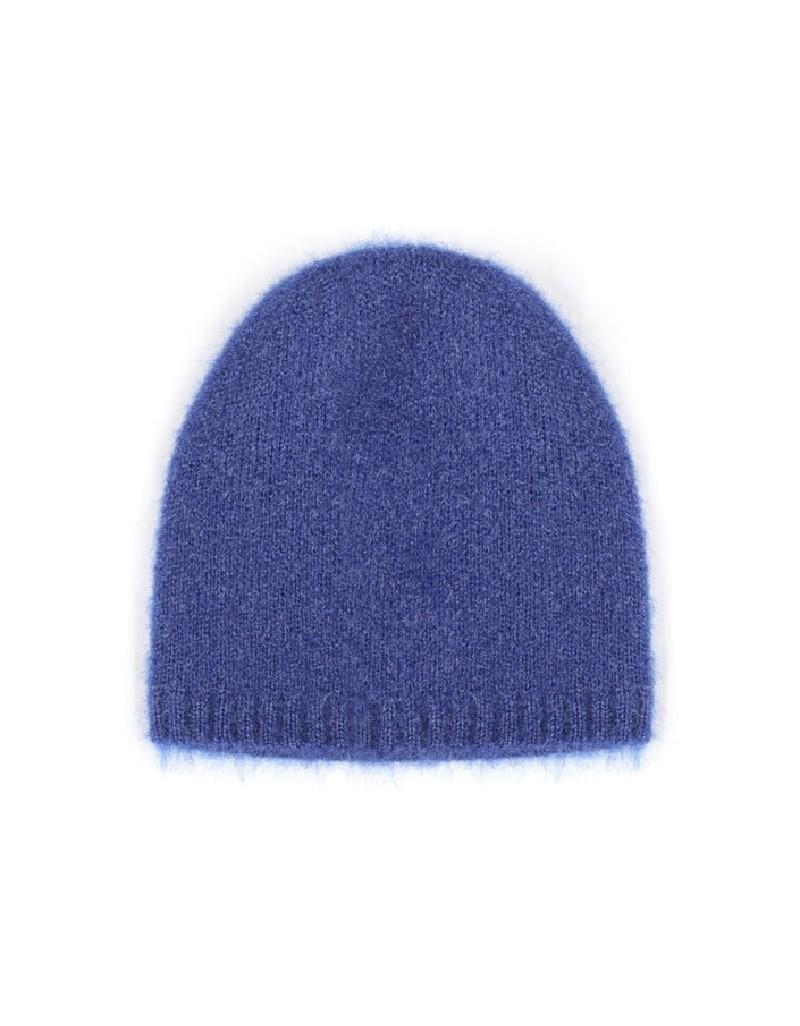 Blue Wool-Blended Beanie