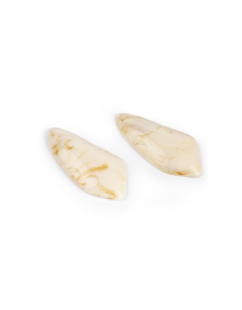 Beige Natural Stone Earrings