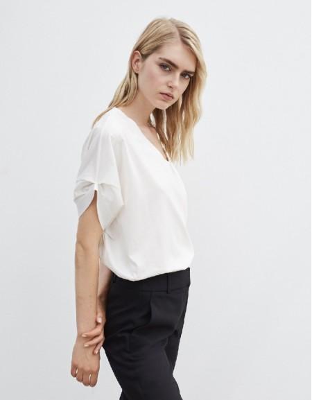 White V-Neck Tshirt