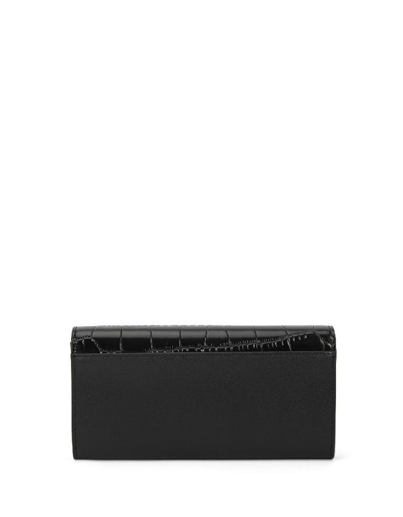Black Crocodile Pattern Wallet